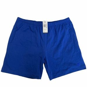 Fila Blue Elastic Waist Drawstring Jersey Short 2X